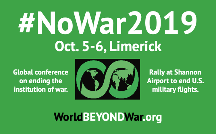 World BEYOND War annual conference, October 2019, Ireland