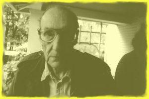 photo of William S Burroughs on his porch