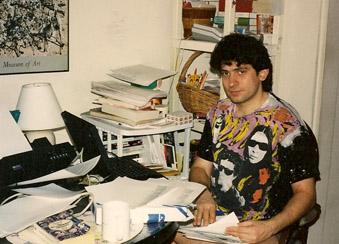 Marc Eliot Stein (Levi Asher) in Velvet Underground t-shirt, 1994