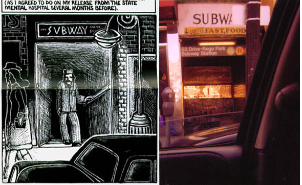 Subway station 63rd Drive Rego Park featured in Art Spiegelman's Maus