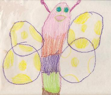 child's drawing of a butterfly