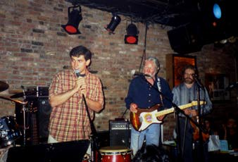Levi Asher and John Cassady at the Bitter End, July 1999