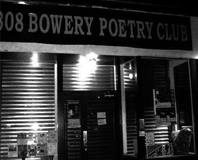 Bowery Poetry Club in downtown New York City, 2002