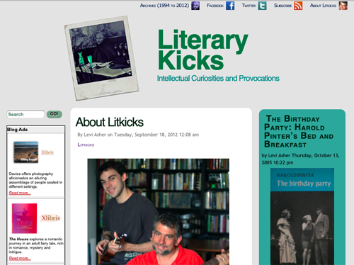 Litkicks About page - 2012