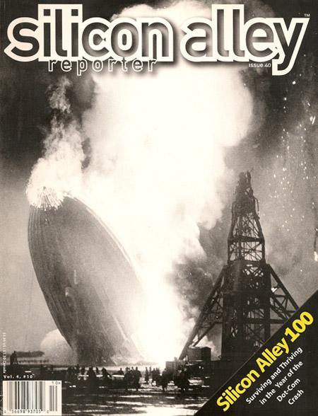 Silicon Alley Reporter's Hindenburg crash cover