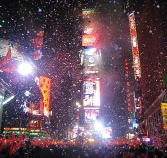 Times Square on New Years Eve 1999